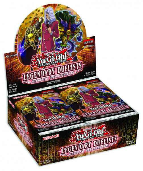 Yu-Gi-Oh! Legendary Duelists: Ancient Millennium Booster-Display